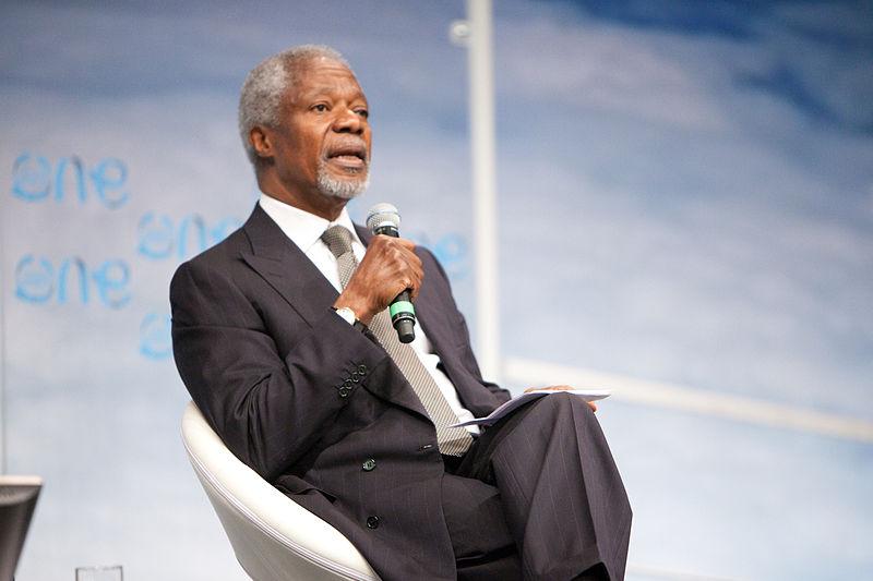 Kofi Anan Secretary General United Nations
